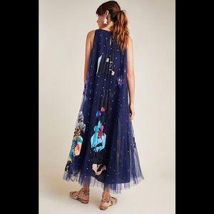 NWT Anthropologie Rochelle Women's Blue Ide dress